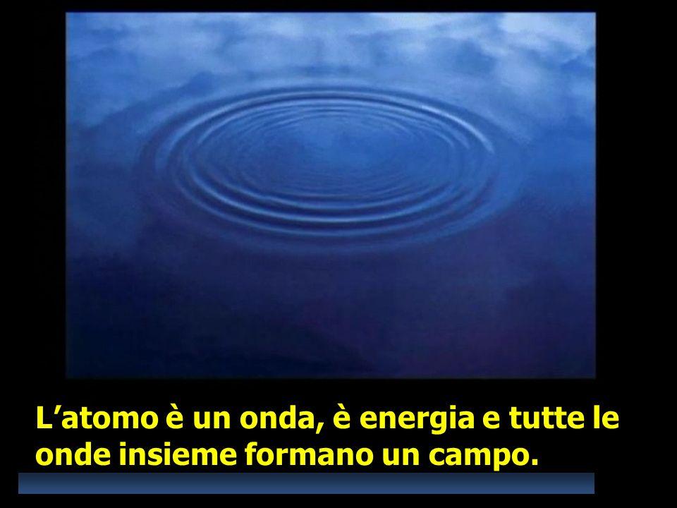 L'atomo è un onda, è energia e tutte le onde insieme formano un campo.