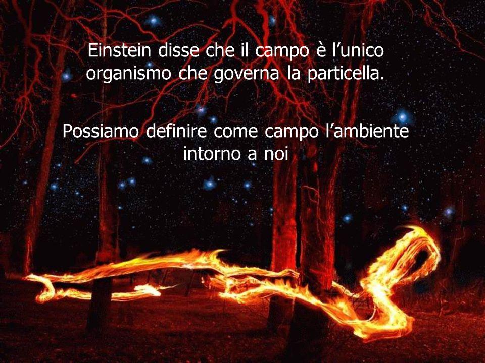 Einstein disse che il campo è l'unico organismo che governa la particella.