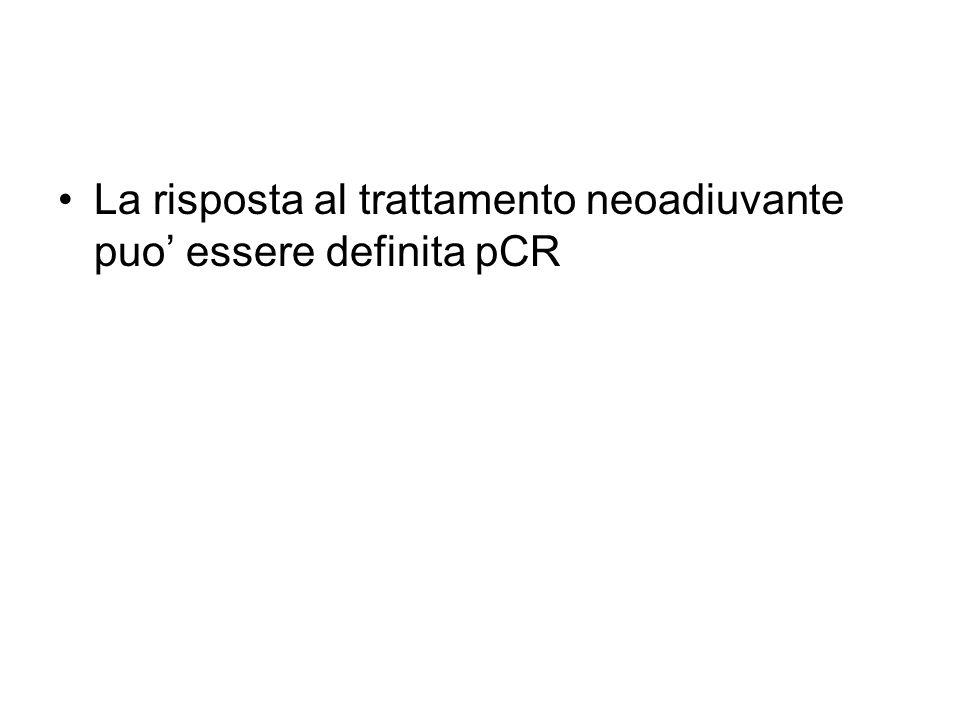 La risposta al trattamento neoadiuvante puo' essere definita pCR