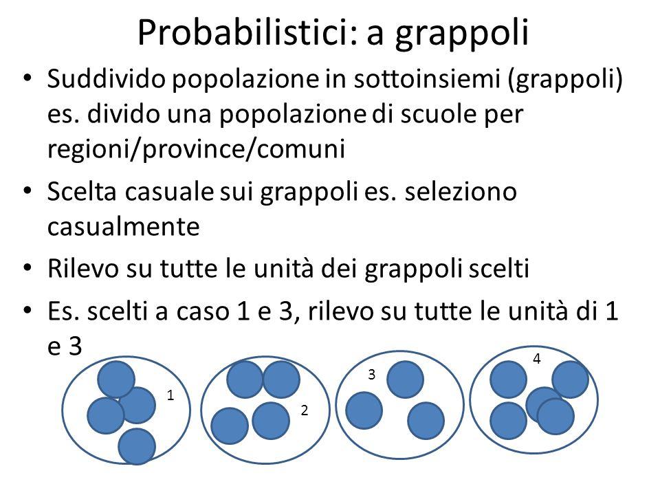 Probabilistici: a grappoli