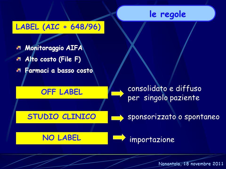le regole LABEL (AIC + 648/96)