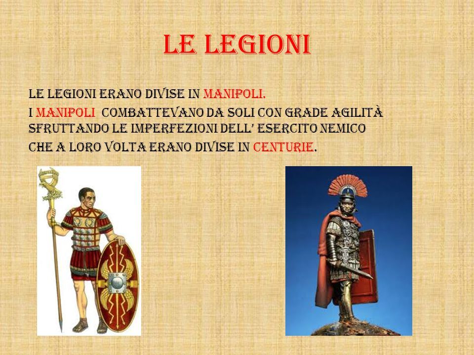 LE LEGIONI