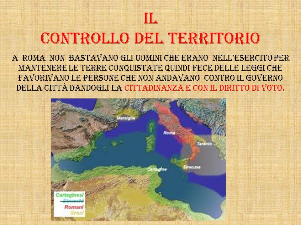Il controllo del territorio