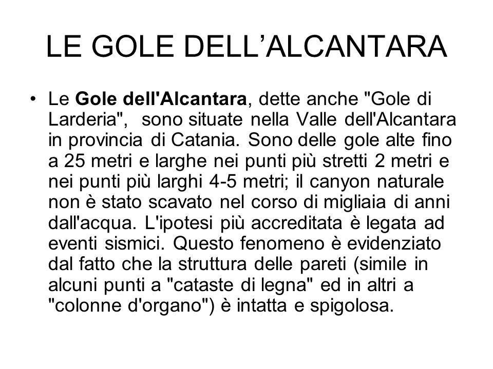LE GOLE DELL'ALCANTARA