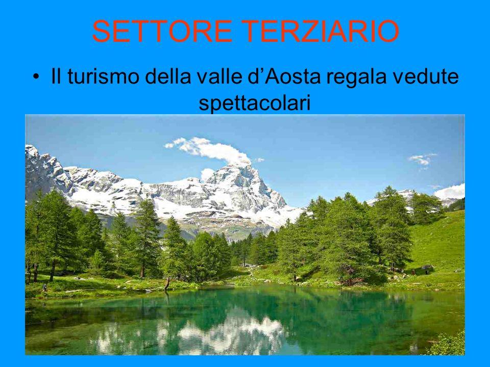 Il turismo della valle d'Aosta regala vedute spettacolari
