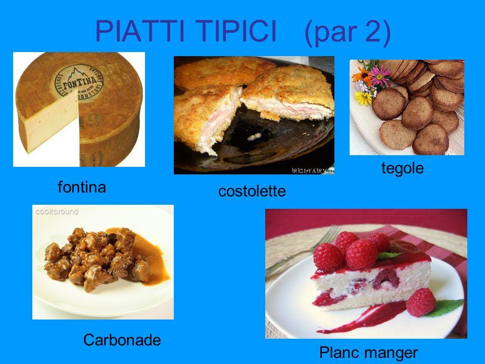 PIATTI TIPICI (par 2) tegole fontina costolette Carbonade Planc manger