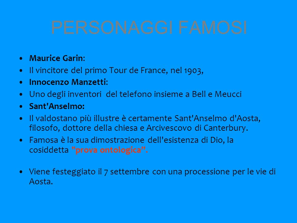 PERSONAGGI FAMOSI Maurice Garin:
