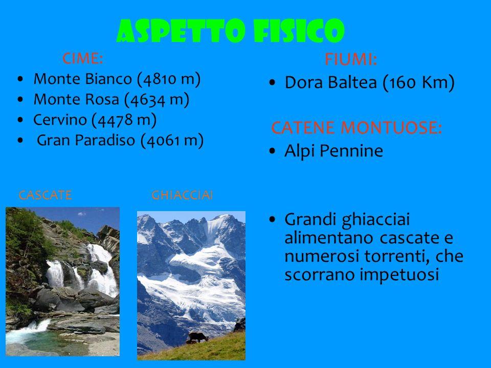 ASPETTO FISICO FIUMI: Dora Baltea (160 Km) Alpi Pennine