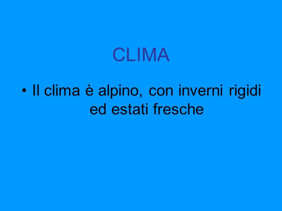 Il clima è alpino, con inverni rigidi ed estati fresche