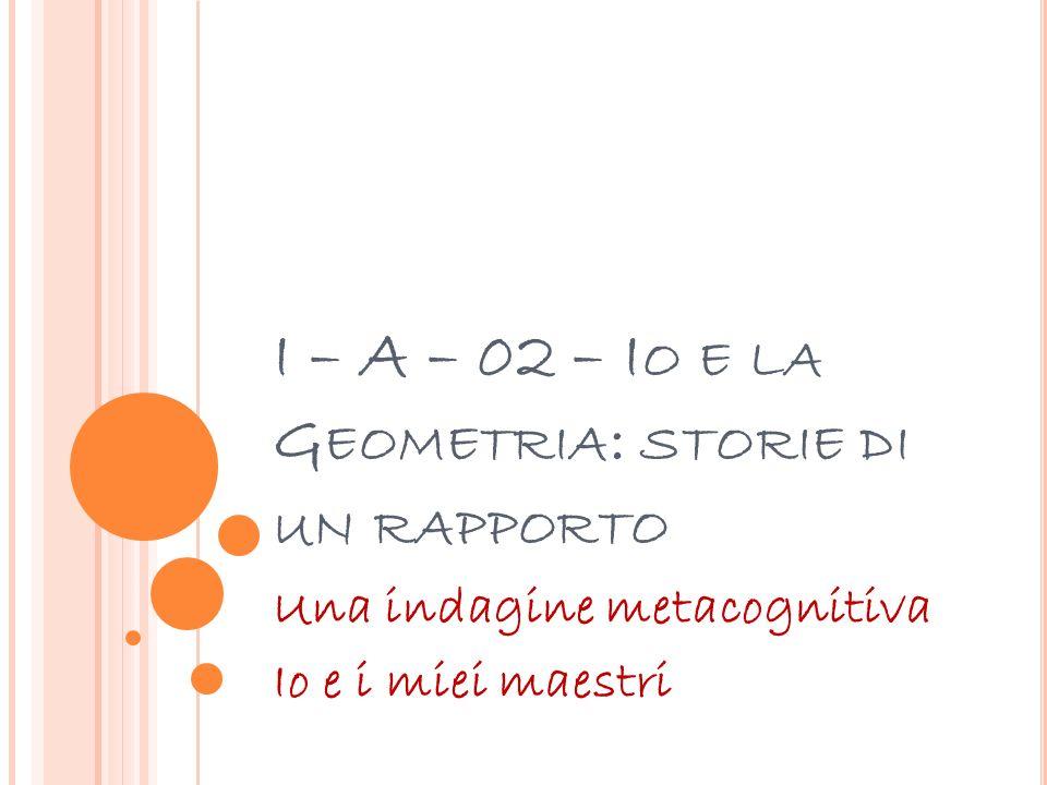 I – A – 02 – Io e la Geometria: storie di un rapporto