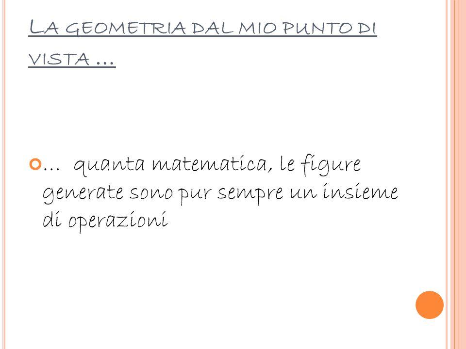 La geometria dal mio punto di vista …