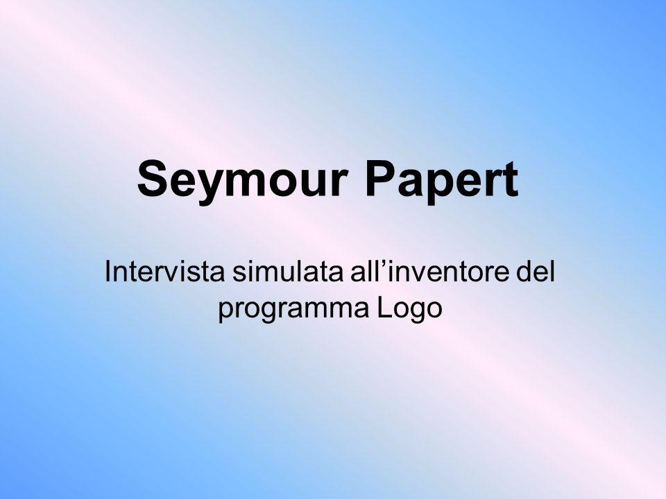 Intervista simulata all'inventore del programma Logo