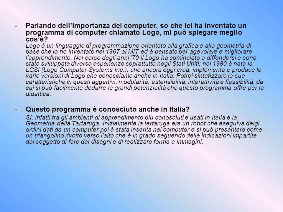 Questo programma è conosciuto anche in Italia