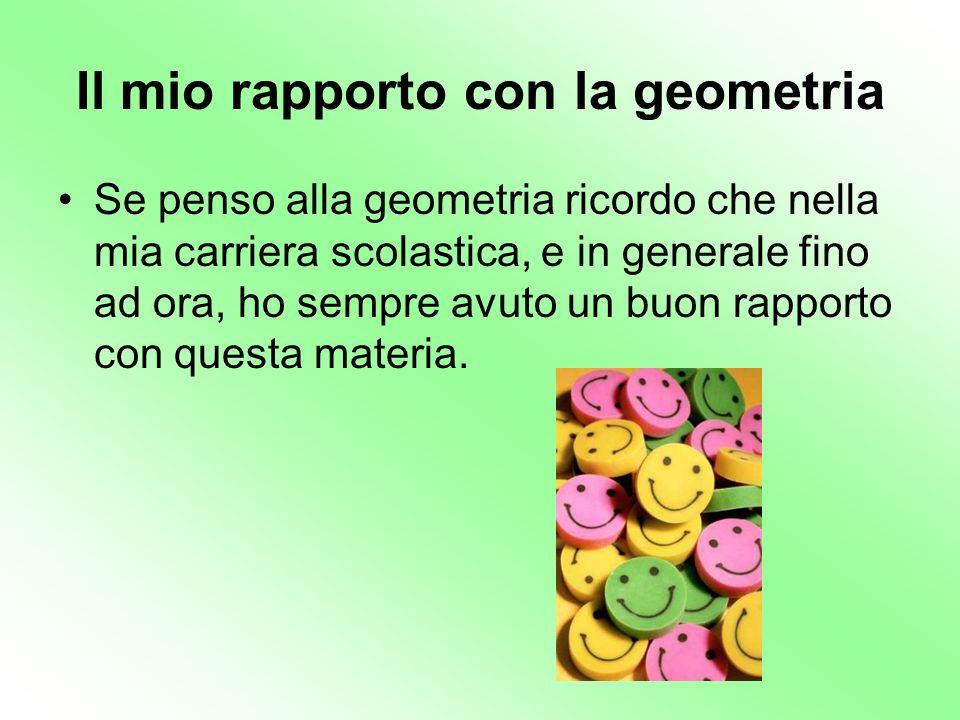 Il mio rapporto con la geometria