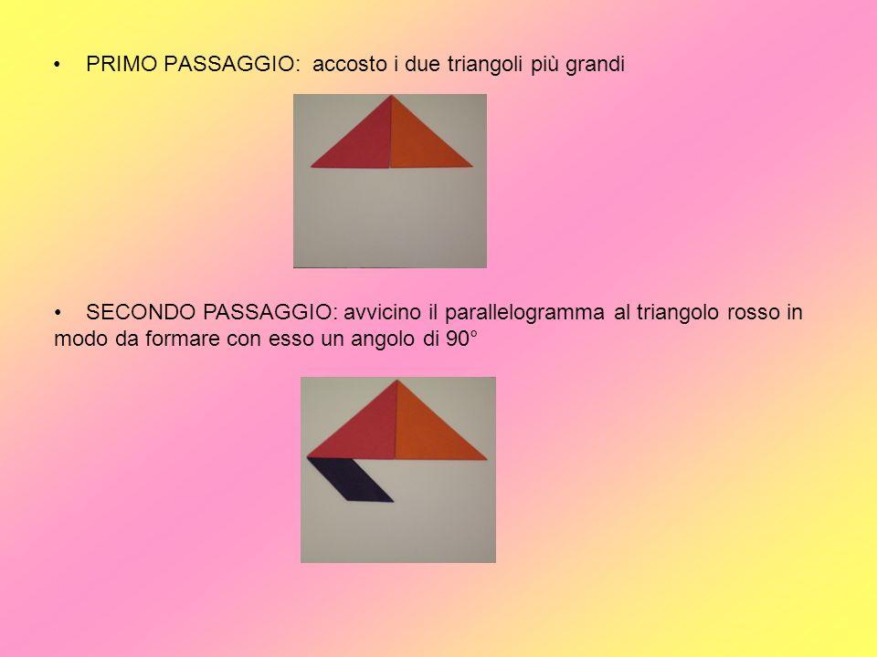 PRIMO PASSAGGIO: accosto i due triangoli più grandi