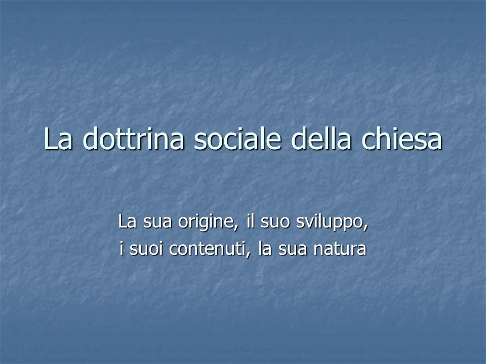 La dottrina sociale della chiesa