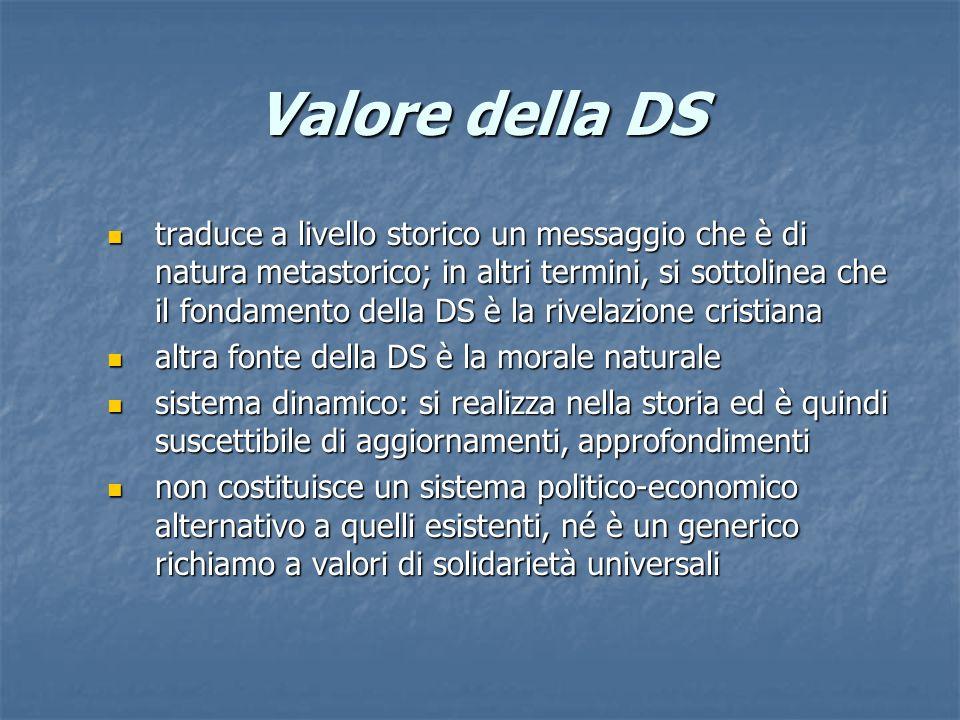 Valore della DS