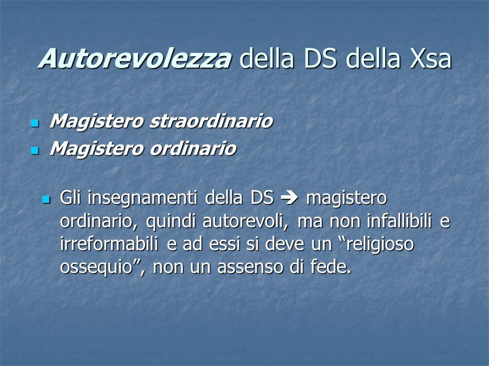 Autorevolezza della DS della Xsa