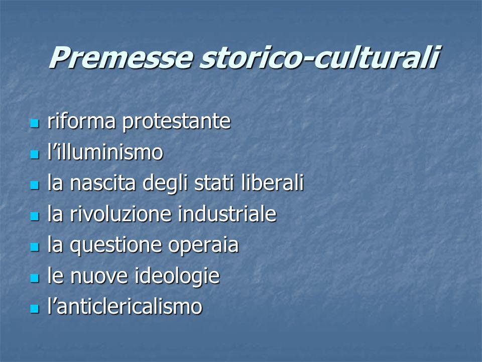 Premesse storico-culturali
