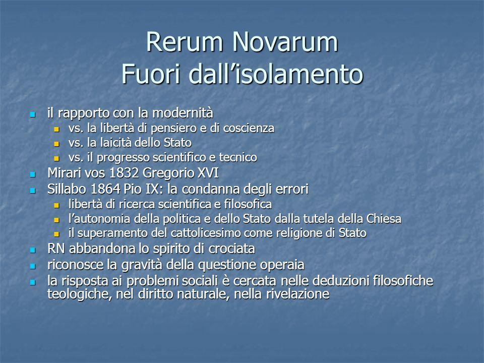 Rerum Novarum Fuori dall'isolamento