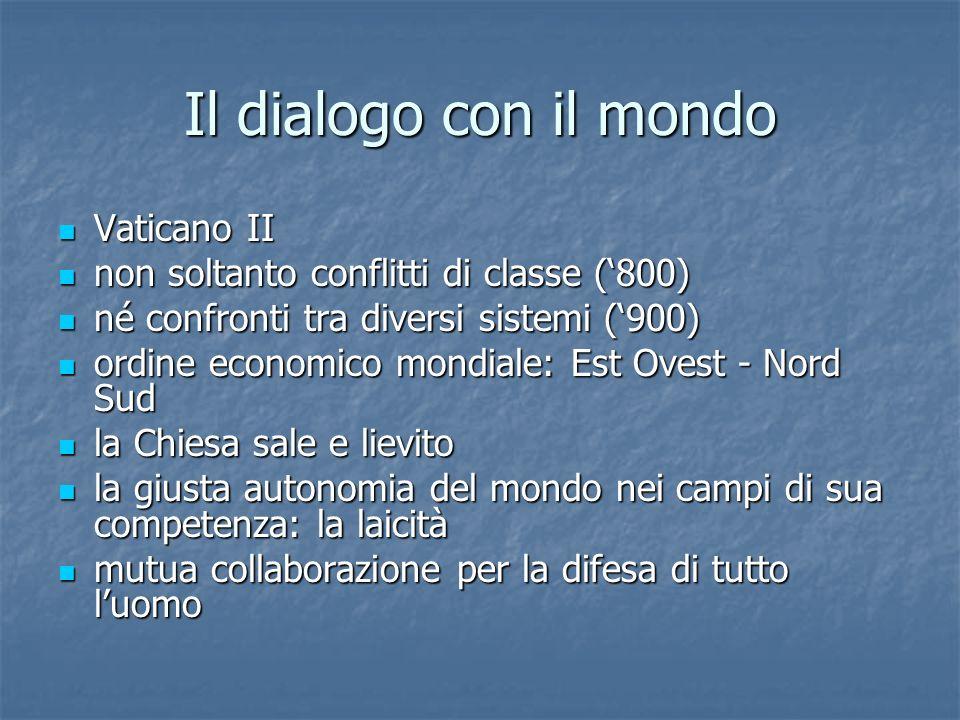 Il dialogo con il mondo Vaticano II