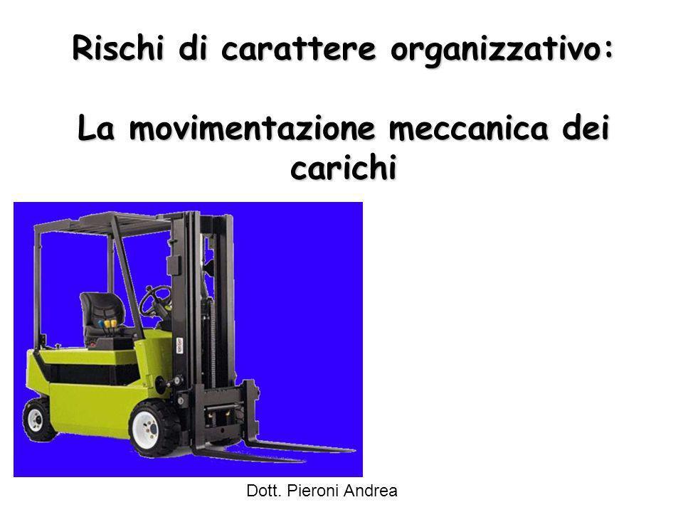 Rischi di carattere organizzativo: La movimentazione meccanica dei carichi