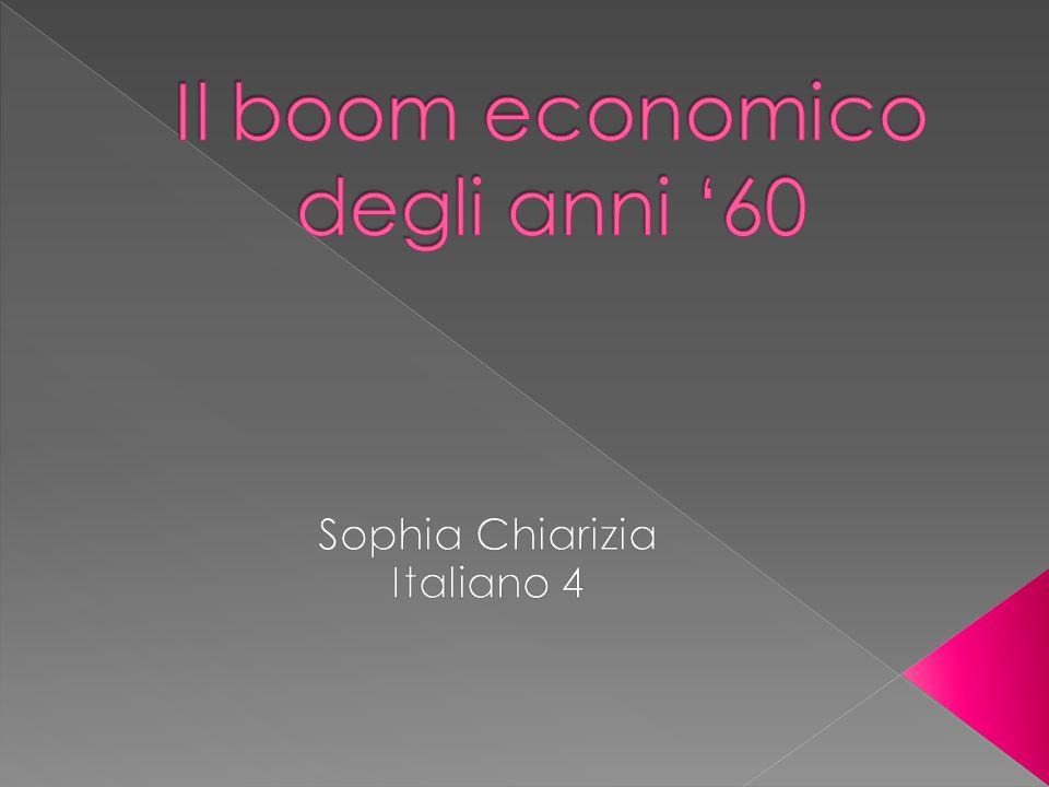 Il boom economico degli anni '60