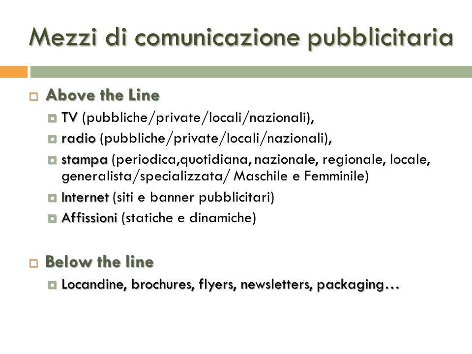 Mezzi di comunicazione pubblicitaria