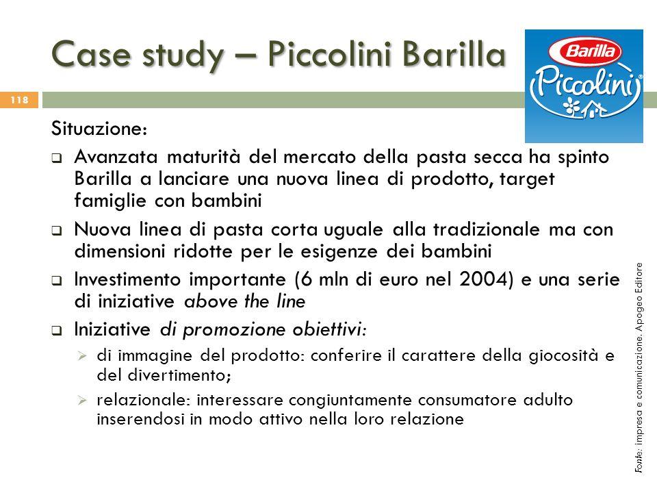 Case study – Piccolini Barilla