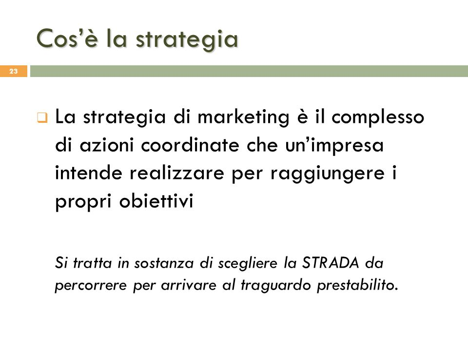 Cos'è la strategia