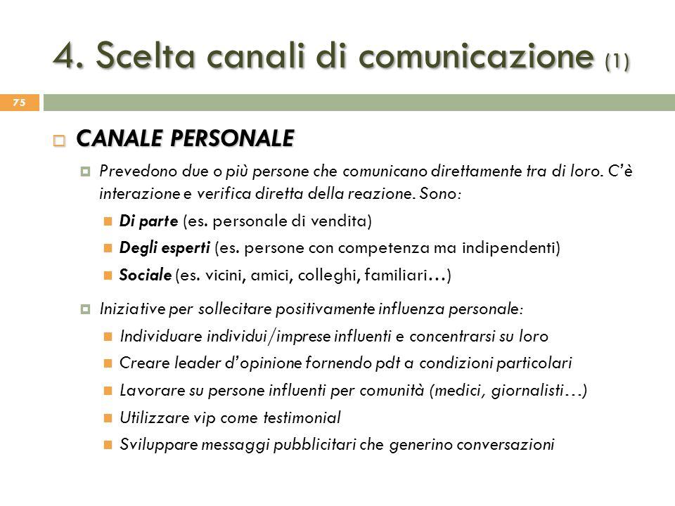 4. Scelta canali di comunicazione (1)