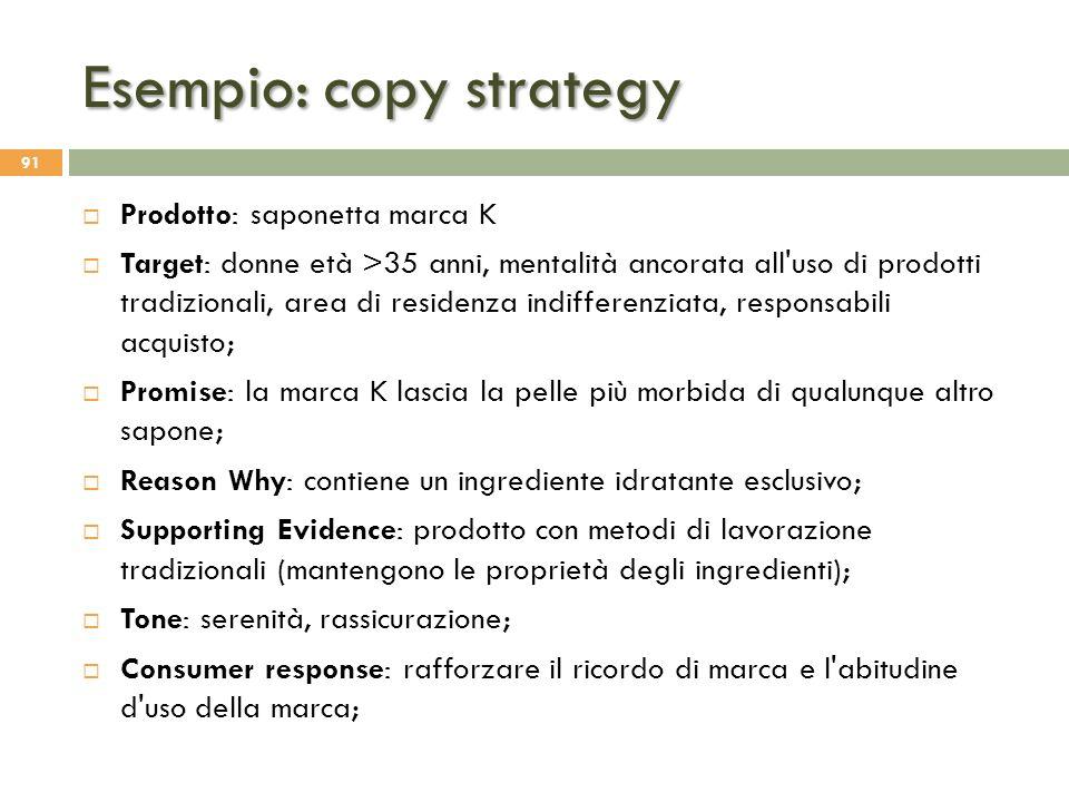 Esempio: copy strategy