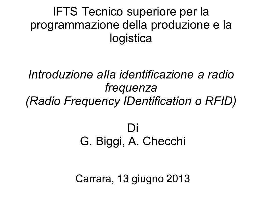Introduzione aIla identificazione a radio frequenza