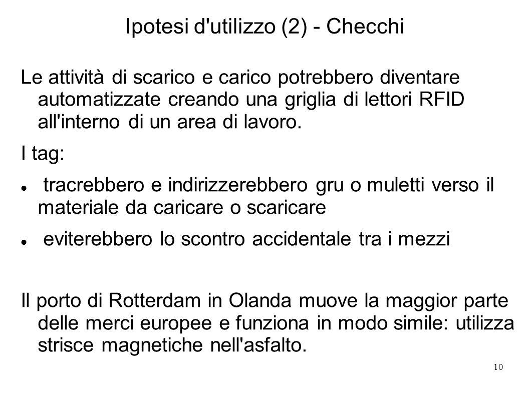 Ipotesi d utilizzo (2) - Checchi