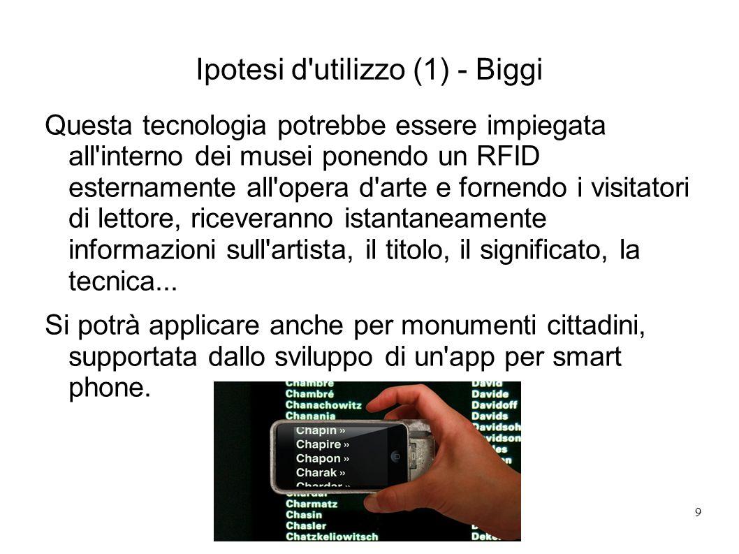 Ipotesi d utilizzo (1) - Biggi