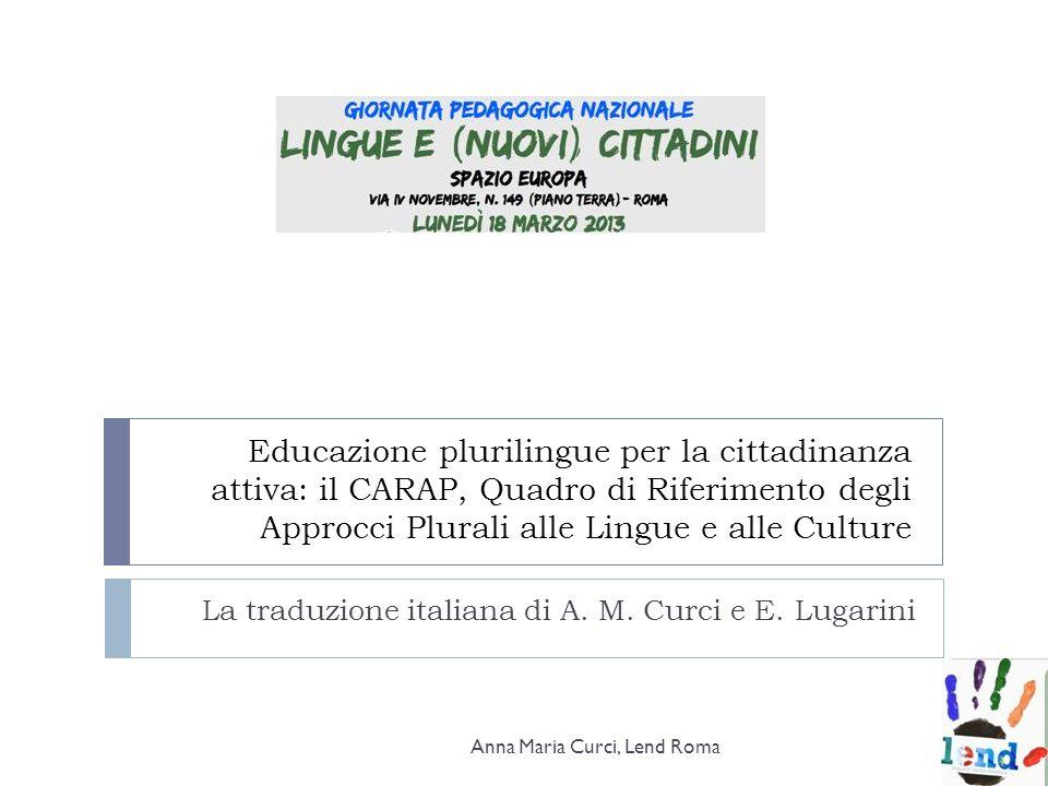 La traduzione italiana di A. M. Curci e E. Lugarini