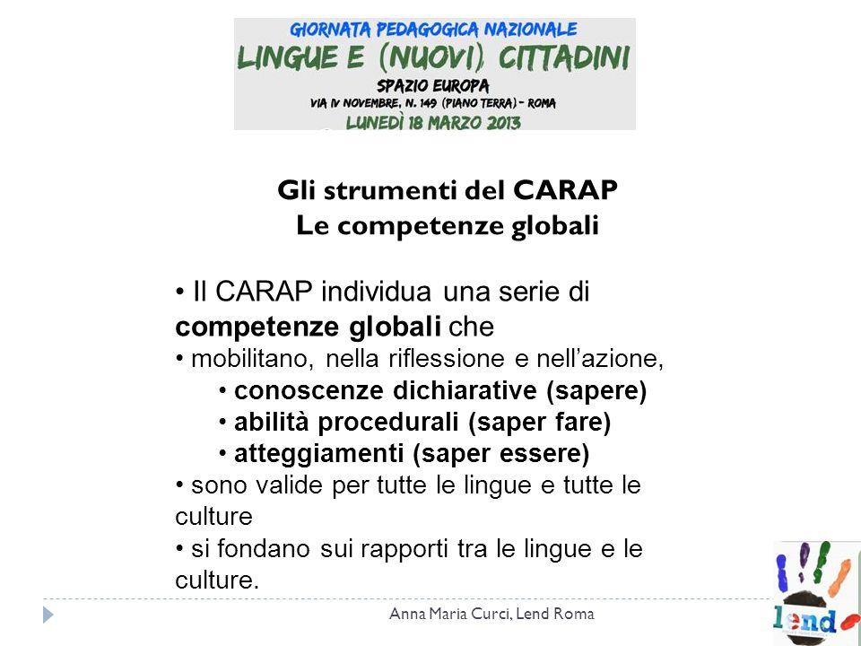 Gli strumenti del CARAP