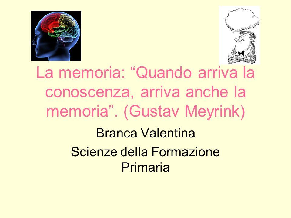 Branca Valentina Scienze della Formazione Primaria