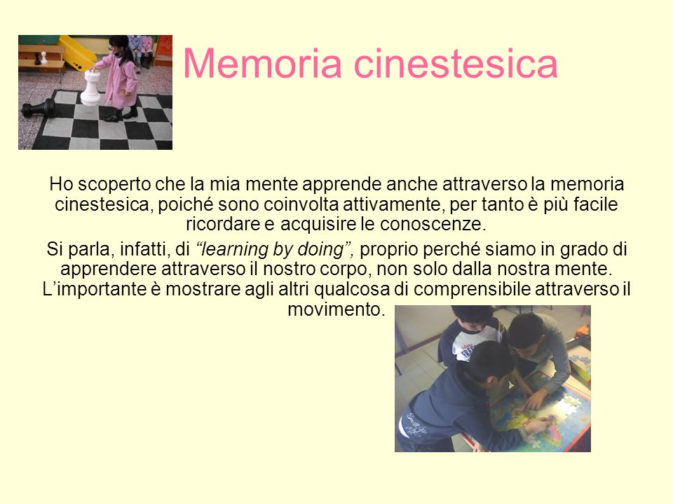 Memoria cinestesica