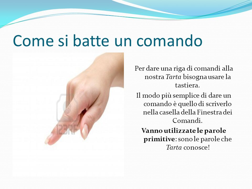 Come si batte un comando