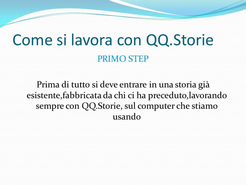 Come si lavora con QQ.Storie