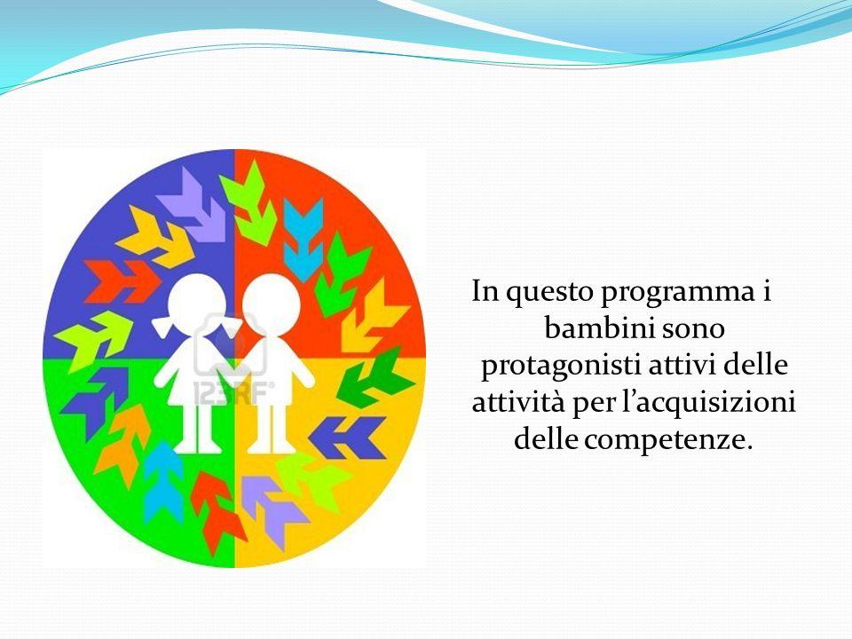 In questo programma i bambini sono protagonisti attivi delle attività per l'acquisizioni delle competenze.