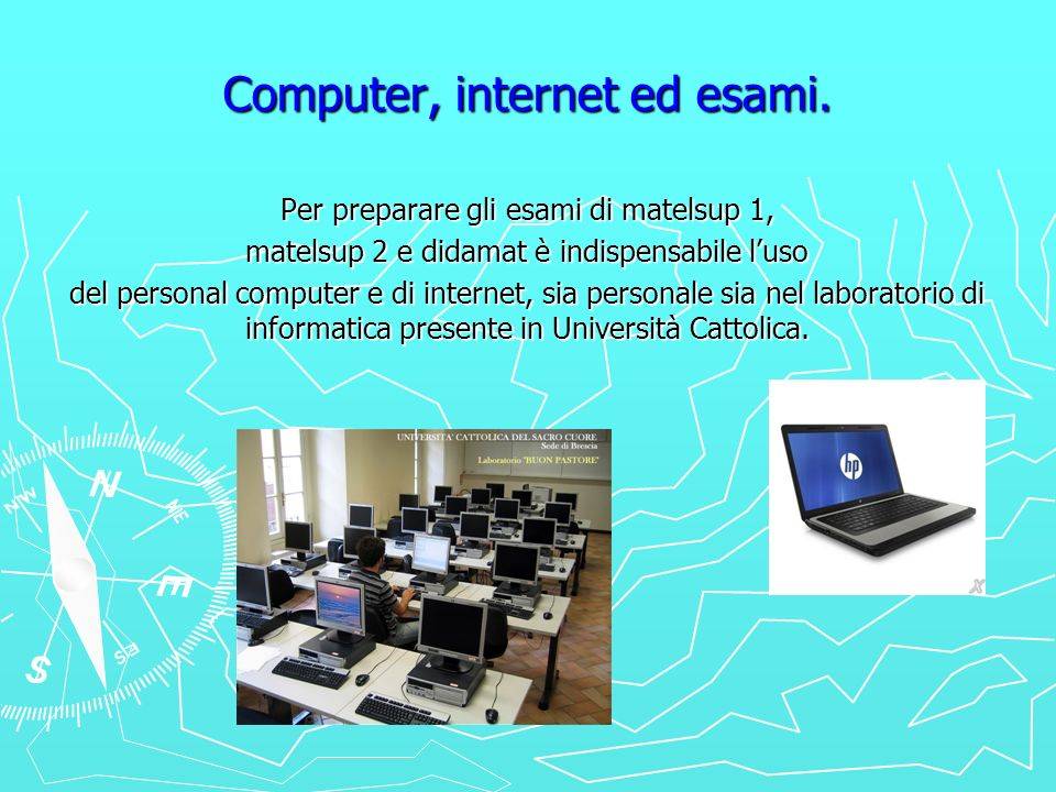 Computer, internet ed esami.