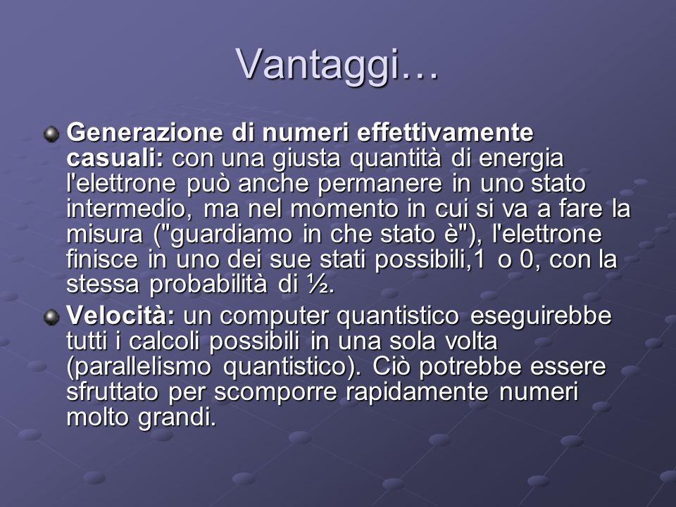 Vantaggi…