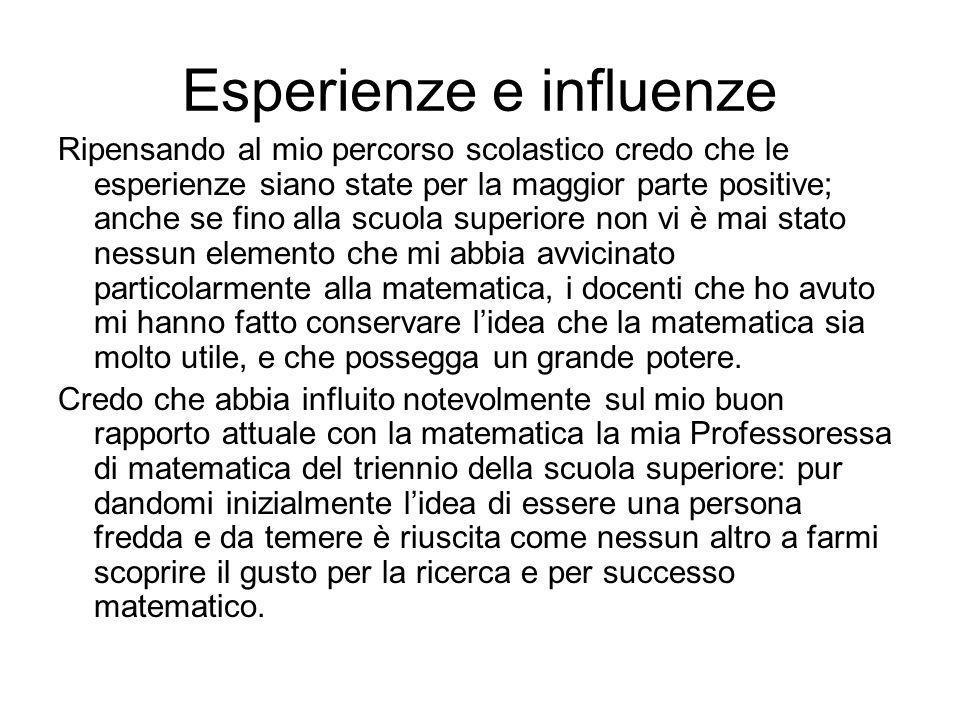 Esperienze e influenze