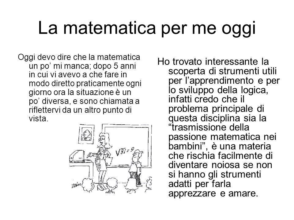 La matematica per me oggi