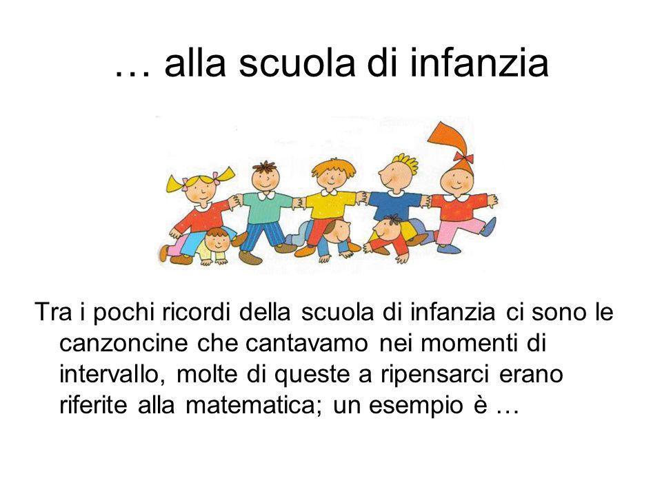 … alla scuola di infanzia