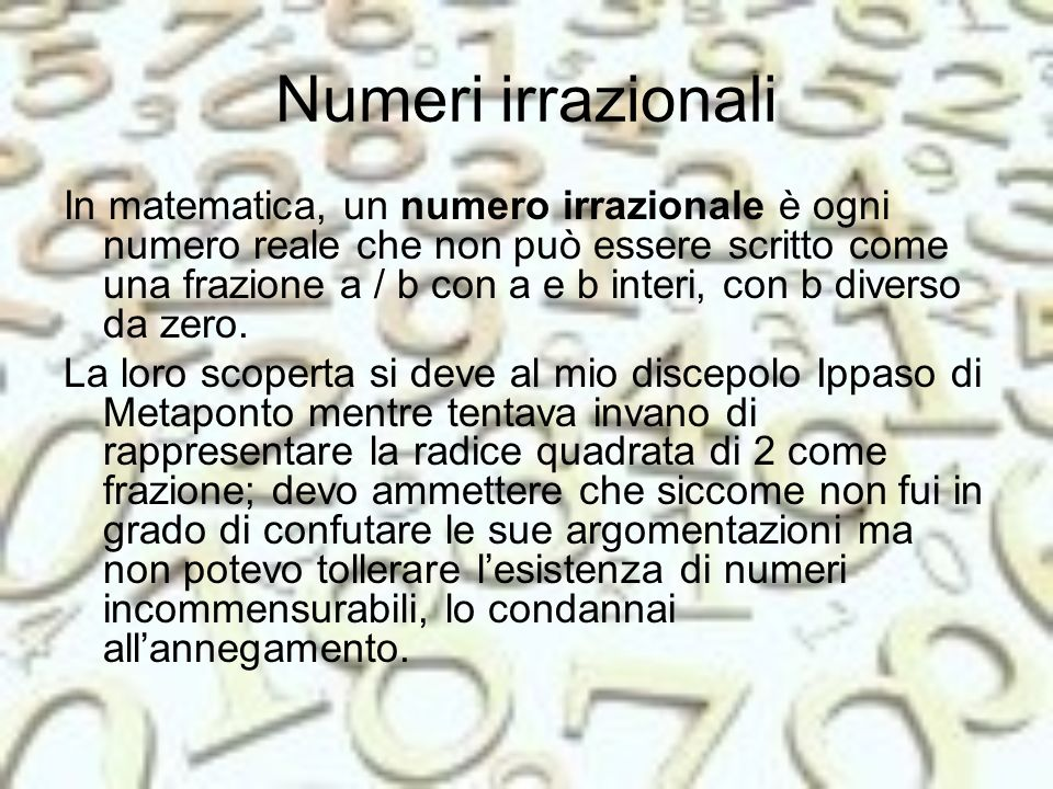 Numeri irrazionali