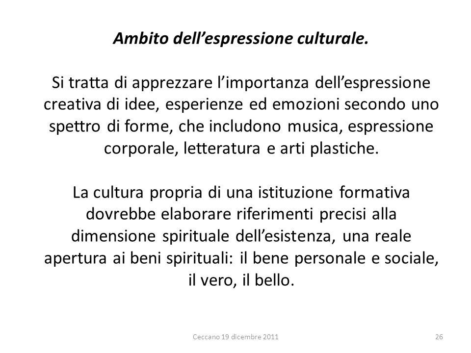 Ambito dell'espressione culturale