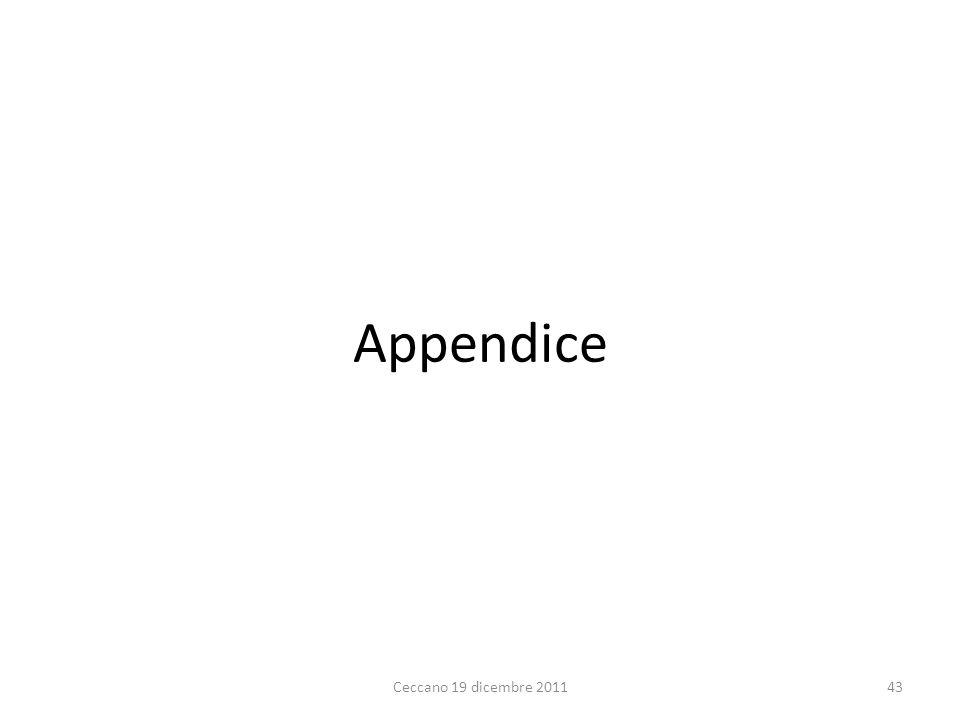 Appendice Ceccano 19 dicembre 2011